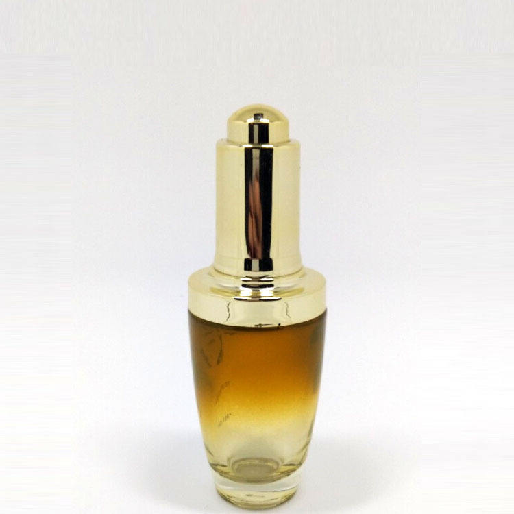 china empty custom 30ml glass cosmetic essence bottles for oil