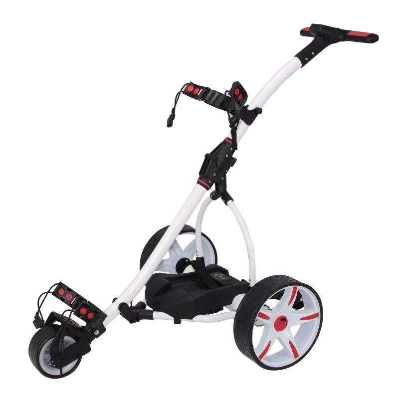 Topsun Motor Caddy Golf Trolley Buggy Remote Control Electric Golf Trolley With Seat
