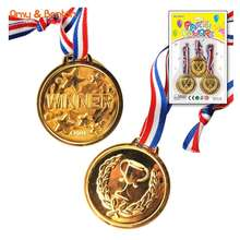 Party Supply Set Plastic Gold Medal From China