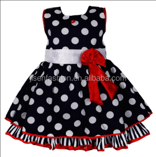 Fancy white dot Baby Girl Floral Princess Dress Children Formal Party Floral Dresses