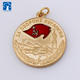 New customized zinc alloy golden plated coin medals supermarket shopping coin