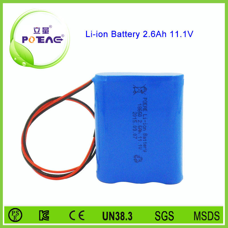 18650 2.6Ah 12 v lithium ion battery pack cho cầm tay tester