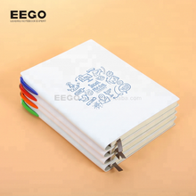 white sketch a5 luxury italian leather hand made ladies child daily notebook