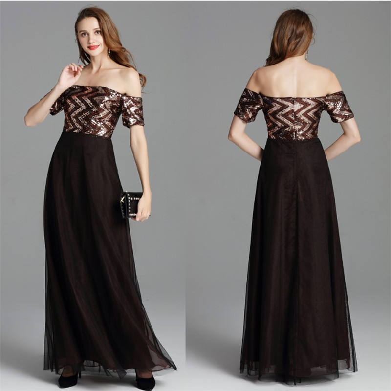 2020 hot sell 4 colors formal gown wedding party vestidos de fiesta off shoulder mother of the bride evening dress