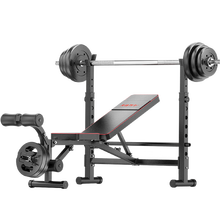 Multi Home Gym Equipment Adjustable Weightlifting Bench Press With Lat Pull Down Bar