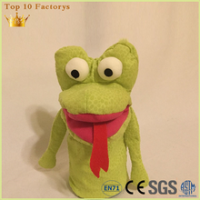 Toy frog rana Frosch long tongue hand quality puppets for sale