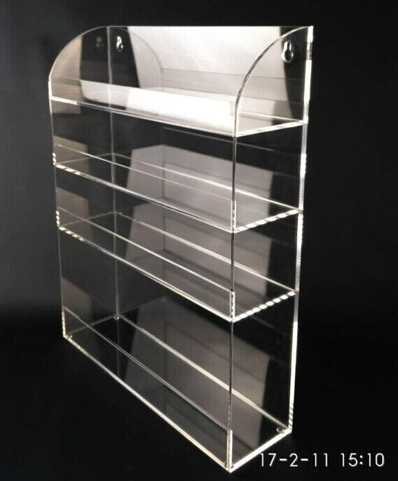 outdoor steady 4 tiers clear acrylic wall mounting acrylic brochure holder