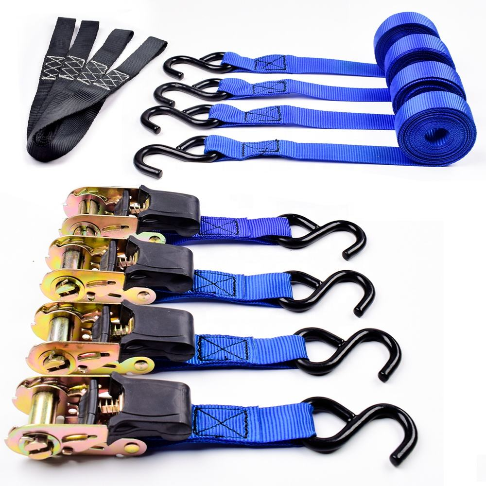 2019 New Type Factory Direct 4 PK Ratchet Tie Down Strap