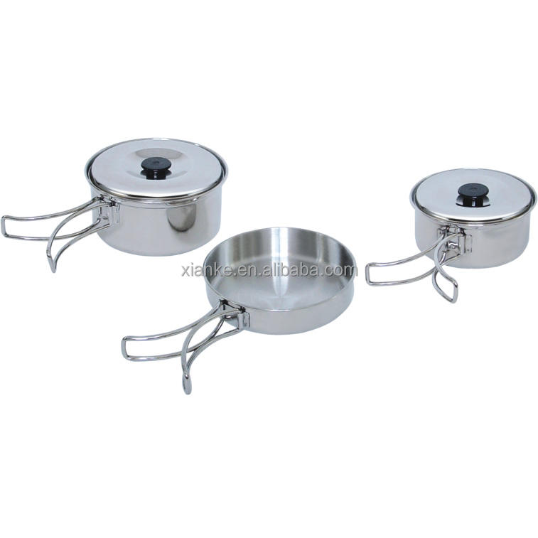 WP207Portable Stainless Steel copper cookware for camping or picnic cooking purpose