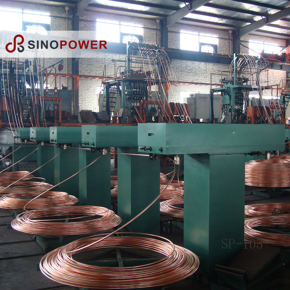 Upward Continuous Casting Machine System for Copper and Aluminum Billet Rod