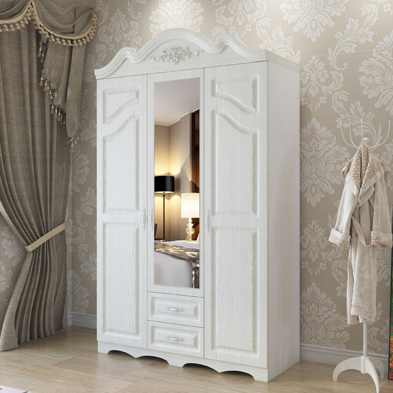 simple design bedroom mdf wardrobe