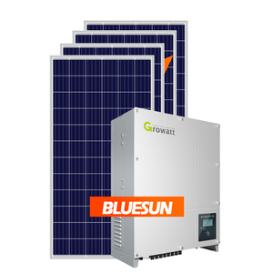 Bluesun 3 phases grid tie solar photovoltaic system 30kw on grid solar system for commercial