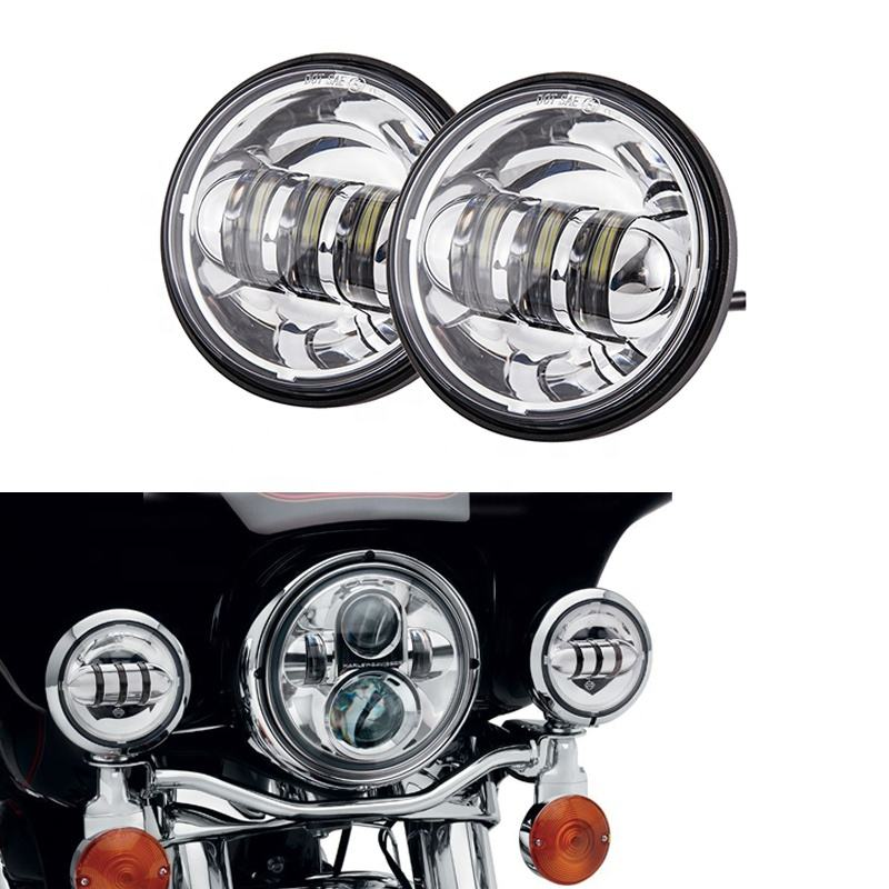 OVOVS chrome/black 12v 30w 4.5inch led fog lamp replacement for harley in auto lighting system