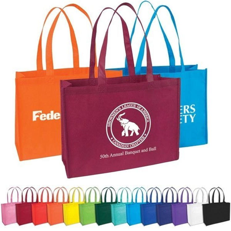 Food take out strong customized high quality various color non woven standard tote bag