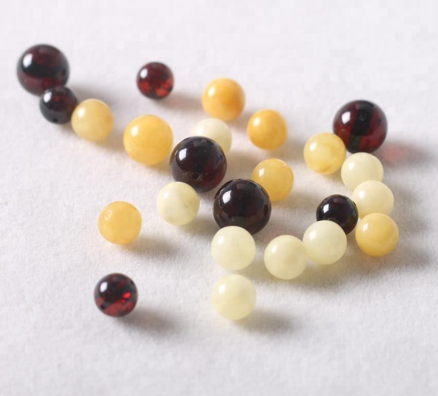 Genuine Poland Amber Beads Loose Gemstone For Making Bracelet Polished Small-lot #Amberbeads #LooseGemstone
