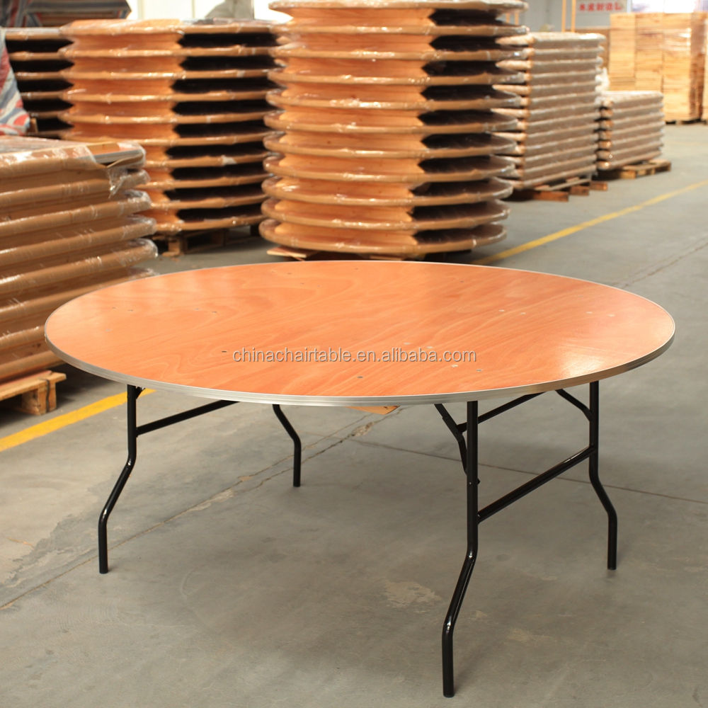 Plywood Round Rectangular Banquet Folding Tables for events in 6ft