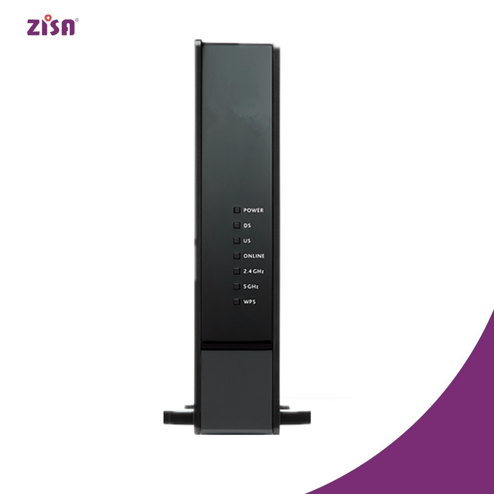 ZISA WLCM105AC Ultra-hign speed Docsis3.0/3.1 modem 1600M 4*4 11AC wifi router