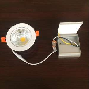 LED COB Downlight 15W ניתן לעמעום שקוע ספוט LED אור תקרת מנורה