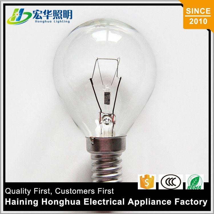 G45 15 W Bombilla Incandescente de Edison Lámpara Solo Filamento de Color Normal