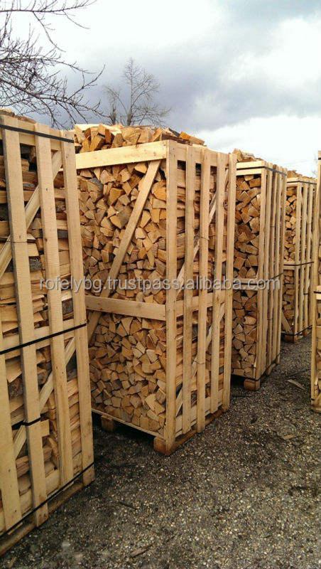 KD Firewood in Wooden Box Pallet 100/100/180