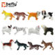 2018 new animal figure toy small plastic dog figurines for kids play