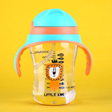 PPSU baby drink milk straw bottle 320ml water bottle bpa free plastic feeding baby bottle with straw