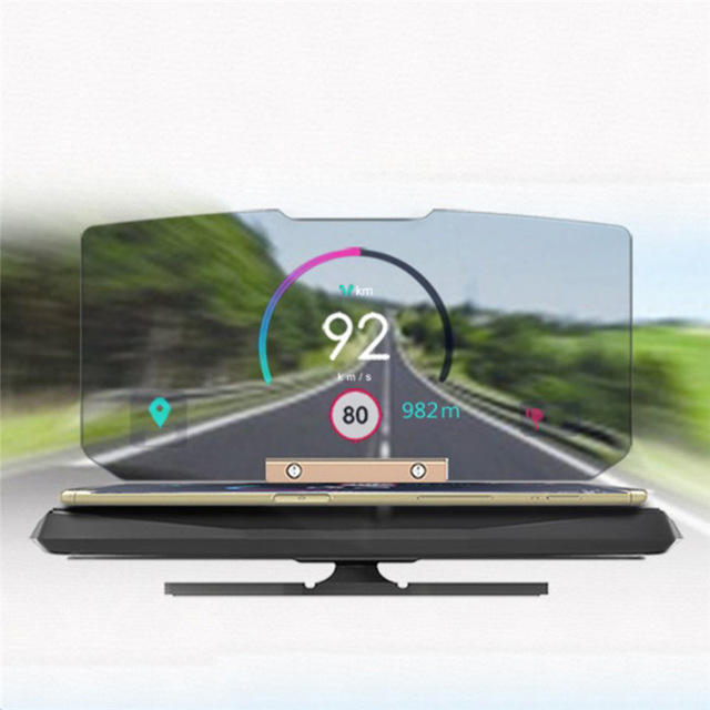 Fabriek auto item hud head up display GPS HUD 01 auto hud met scherm voor iphone voor samsung s9