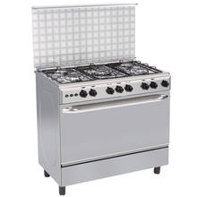 Best quality gas stove with oven electric cooker with oven five burner with Euro pool burner 36inch for restaurant equipment