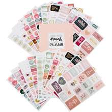 Waterproof PVC Daily Monthly  Book Sheet paper bottle custom Stickers, Weekly laptop Planner Stickers/wholesale die cut sticker