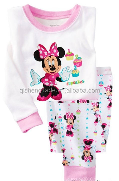 children's printed pajamas sets kids sleeping wears