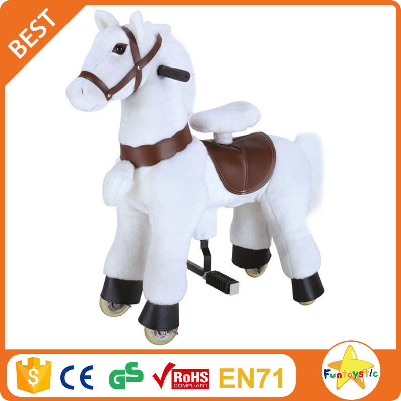 Funtoys ceの子供の乗車ウォーキング馬のおもちゃ