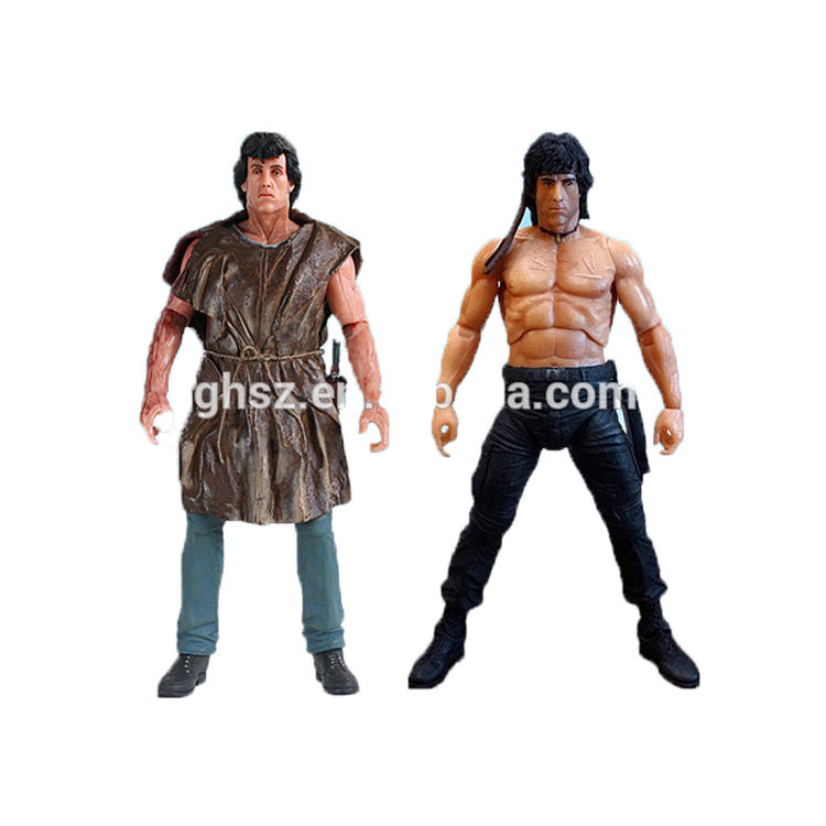 NECA action figure primo sangue II film carattere rambo figura nuda action figure