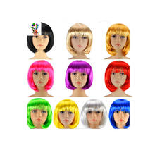 Cheap Colors Short Bob Synthetic Carnival/Halloween Party Wigs HPC-0002