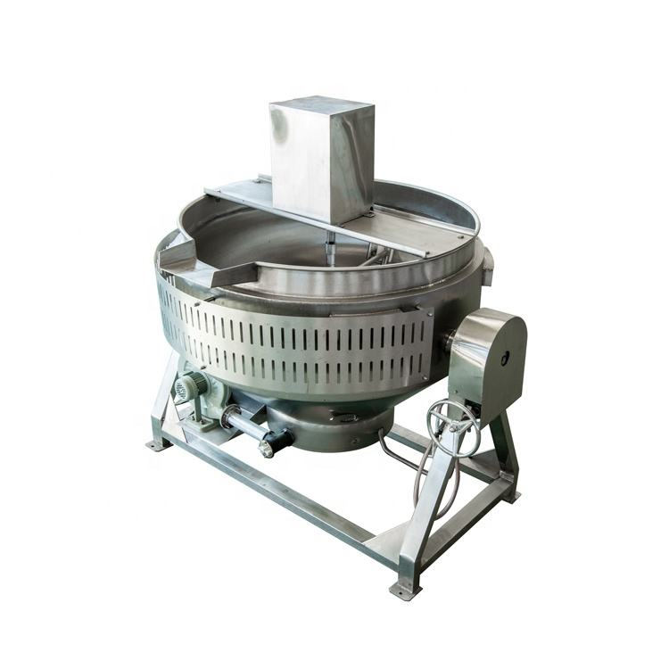 Semi-automatic gas heating industrial cooking pot with agitator