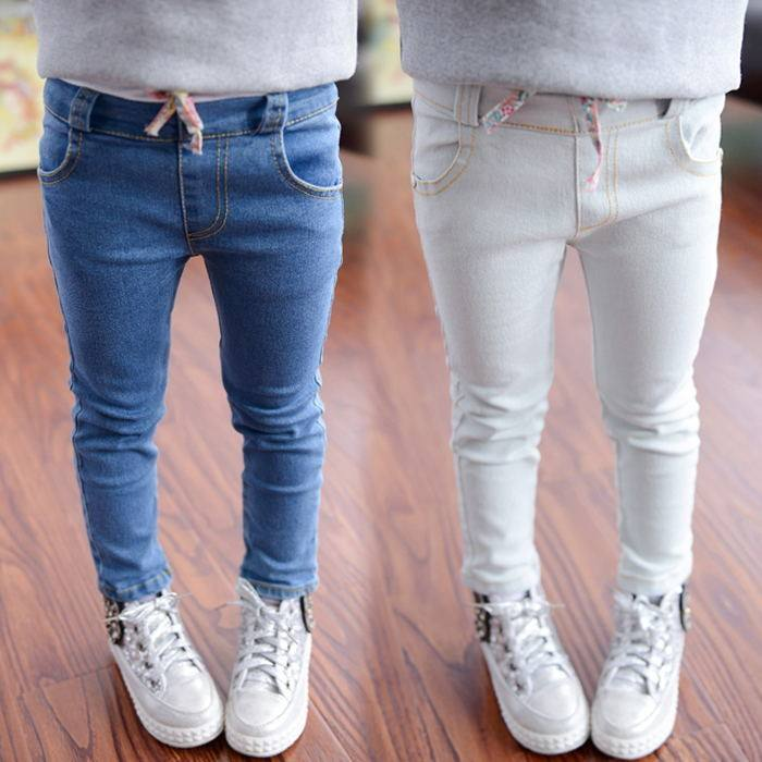 Fashion Girl Seamless Leggings Design Thin Child Jeans Bulk Buy From China