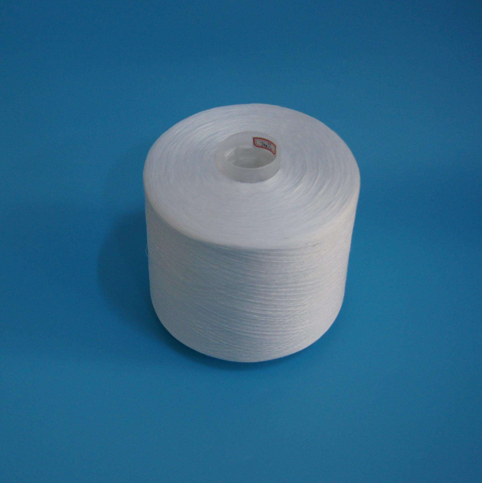 50/2 white 100% spun polyester yarn for sewing thread manufacturer