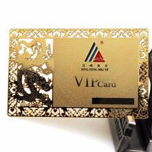 Custom cheap metal electroform nameplate vip business card