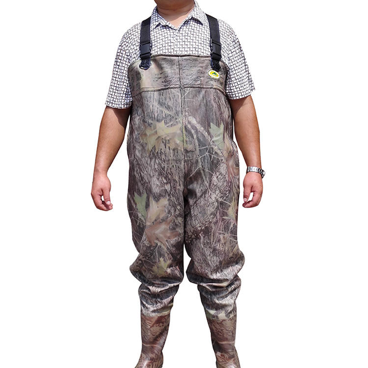 much lighter than Rubber material Breathable Wader Insulated Bootfoot pvc Chest fishing Wader
