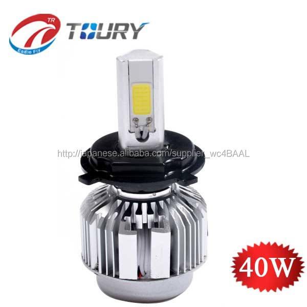 取付簡単車用LEDヘットライト 一体型LEDヘットライト 三面設計 ハイビーム3800LM H4,H7,H8,H9,H11,H13,HB3,HB4/6500K