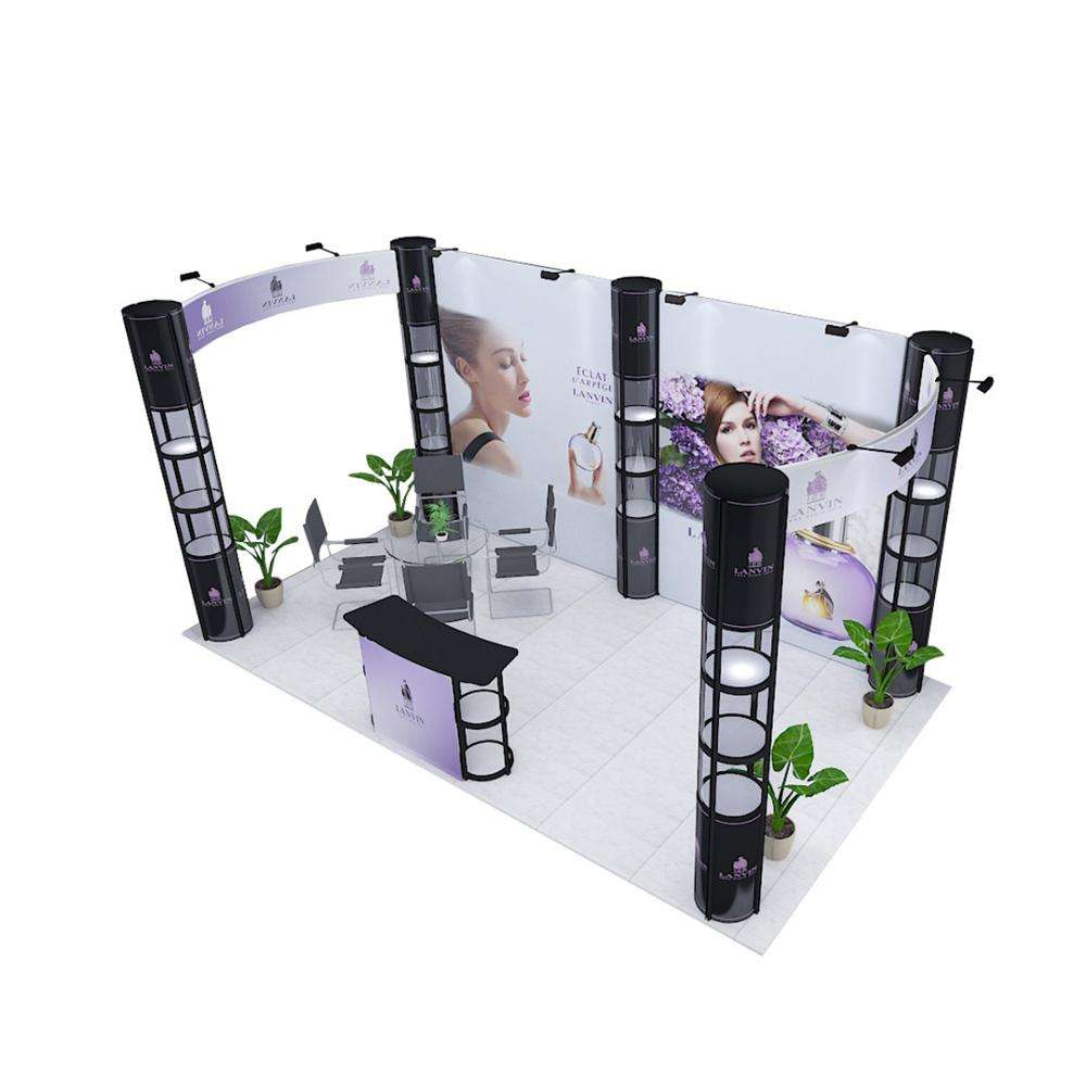 Exhibition Booth Stand 10*20ft Aluminum Exhibition Booth Display Stand For Event