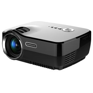 1200LM 800*480 Home Theater Projector with Remote Control, 4.0 inch Single LCD Panel Display(Black)