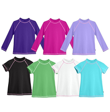 Boys & Girls UPF 50+ Short Sleeve Rashguard Youth Surf Kids Swim Top