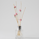 Hot Sale home perfume 50ml pink flower glass bottle reed diffuser for gifts