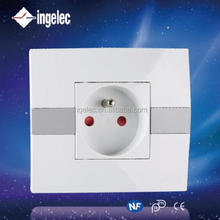 chinese wholesale 2016 ingelec new gray stripe french wall electreical socket