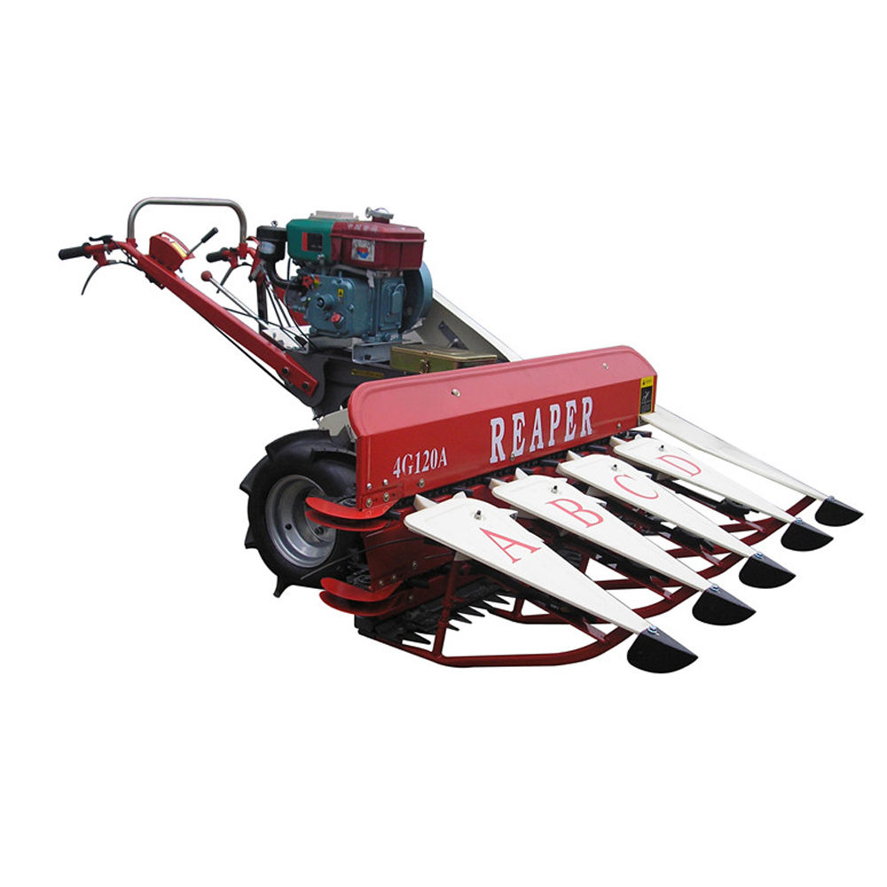 4G120A Yancheng Mingyue farm equipment rice reaper machine in harvesters in India