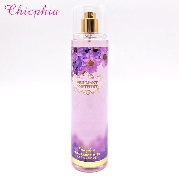 Chicphia Brillante Ametista marchi del cliente spray per il corpo fragranza deodorante spray per il corpo
