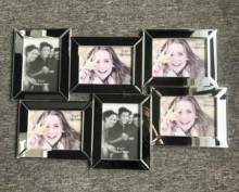 Beveled mirror photo frame, Collage picture frame, MDF mirror frame