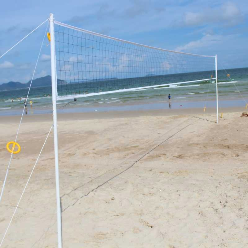 Family outdoor sport game equipment beach volleyball set