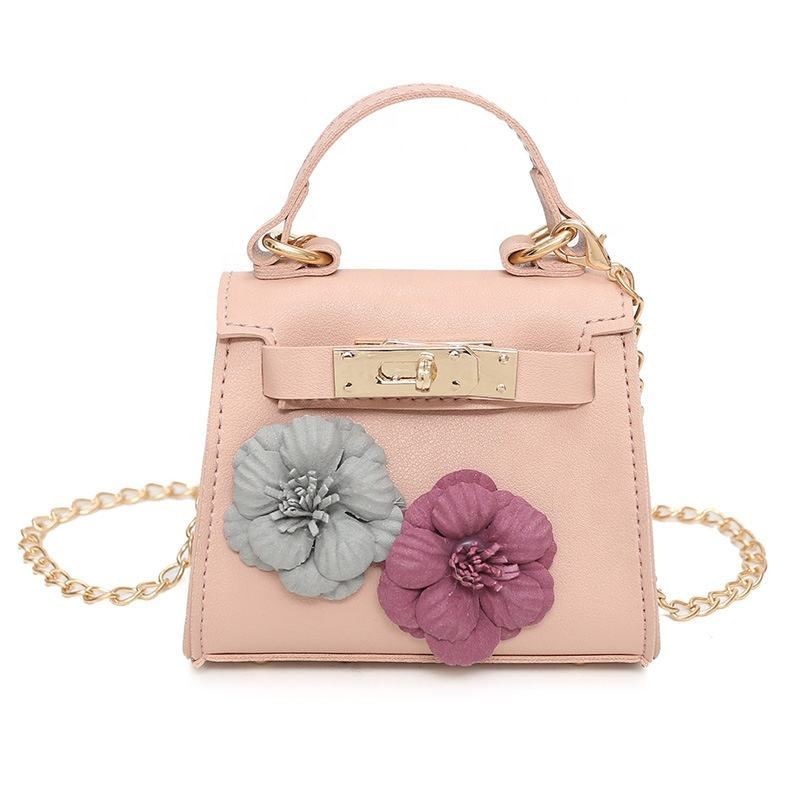 New Fashion Mini Flower Korean Lady Women Handbag Shoulder Long Chain Bag