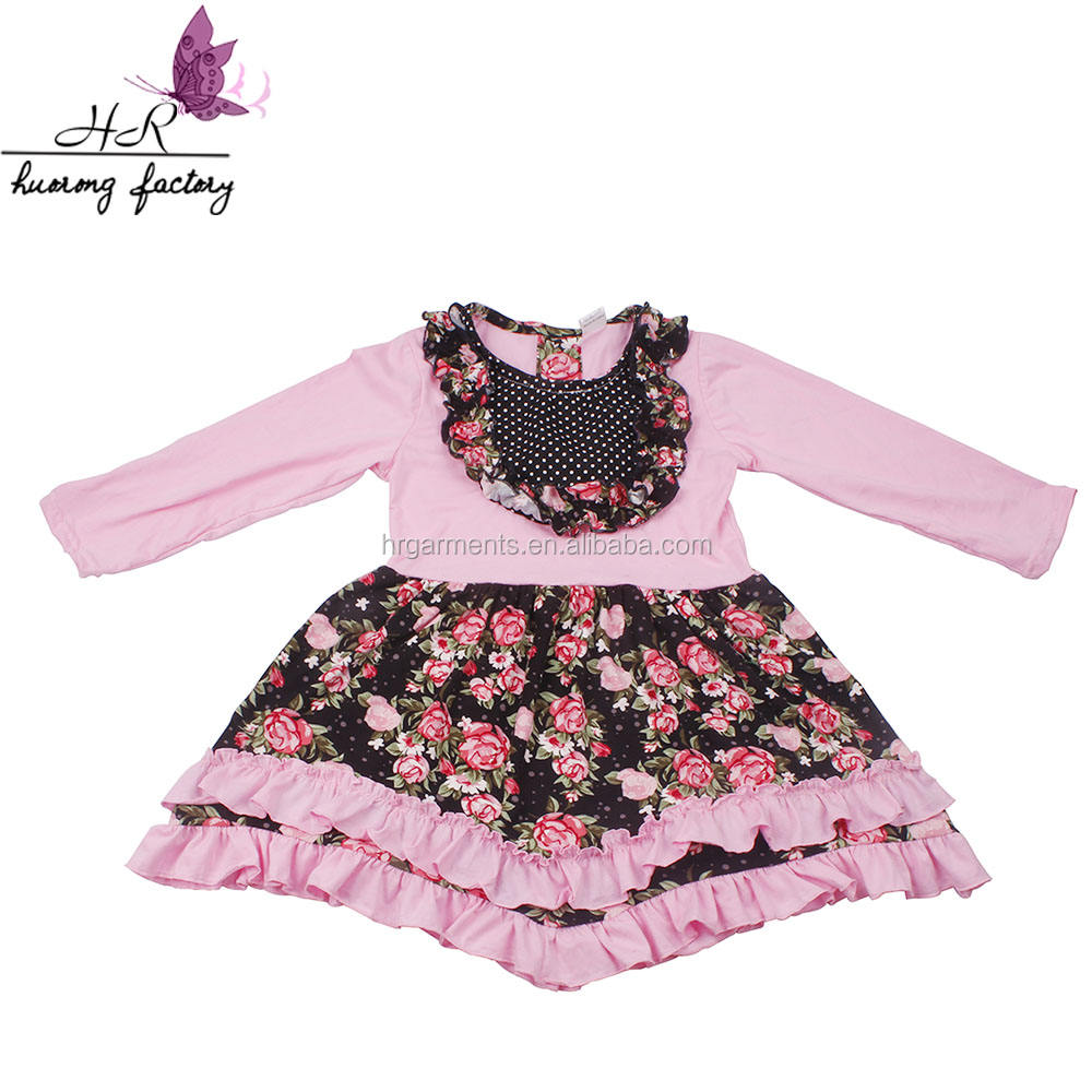 Fashion children beautiful dress kids fall clothing dress